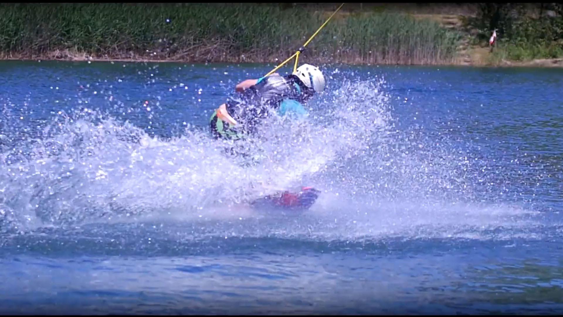 capture vidéo film sport wakeboard