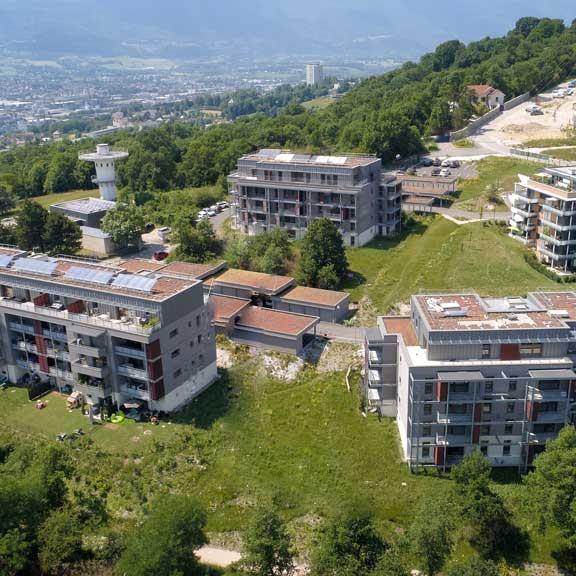 YOCOT drone vue du ciel Bassens Chambéry les monts architecture
