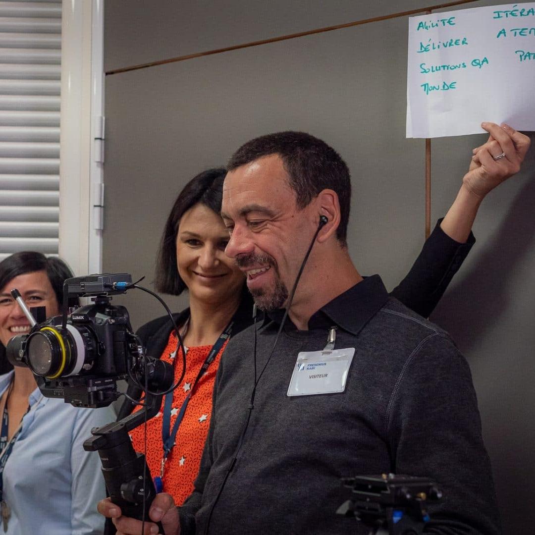 équipe de tournage behind the scene