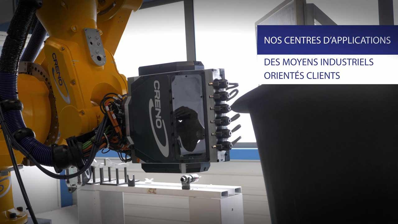 Machine robotisée pour l'industrie aéronautique, aérospatiale et composite.