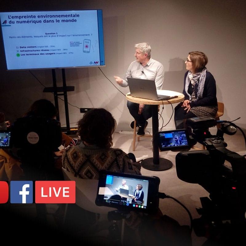 Live Streaming reseaux sociaux 3 caméras